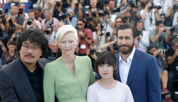 "Photocall for the film ""Okja"" in competition"