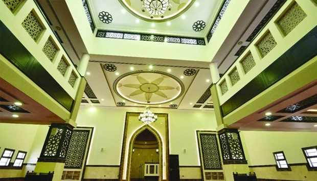 The interior of one of the newly built mosques in Muaither