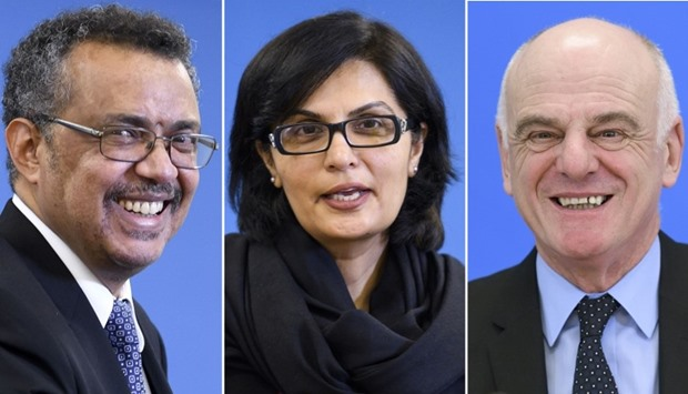 (From L) Ethiopian Minister of Foreign Affairs Tedros Adhanom, Pakistani cardiologist Doctor Sania N