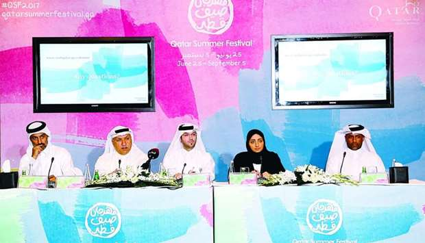 Director of Festivals and Tourism Events at the Qatar Tourism Authority (QTA) Mashal Shahbik (second