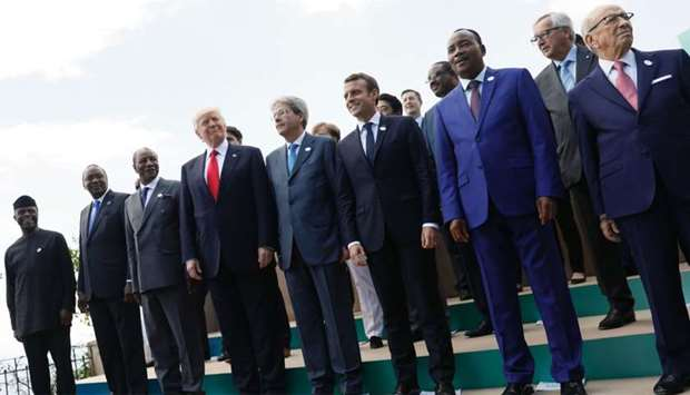 Trump with G7 leaders