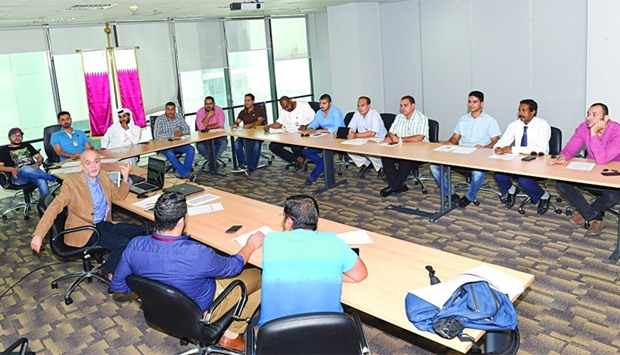 A training session for municipality inspectors about the new programme