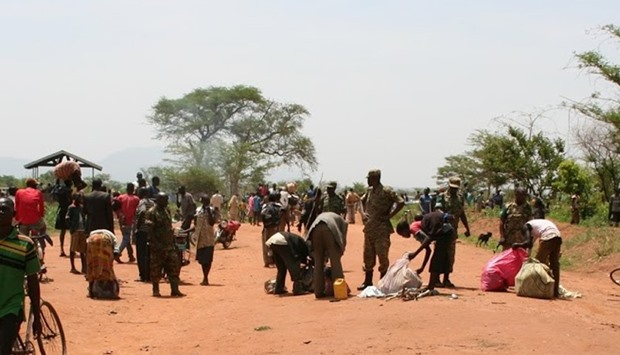 people fleeing their homes in DR Congo