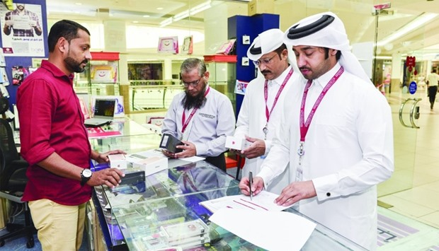 CRA officials during a routine inspection of telecom market