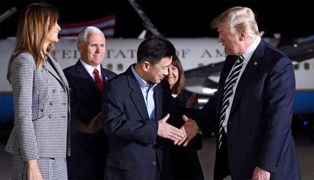 Trump welcomes US prisoners released by N Korea, thanks Kim
