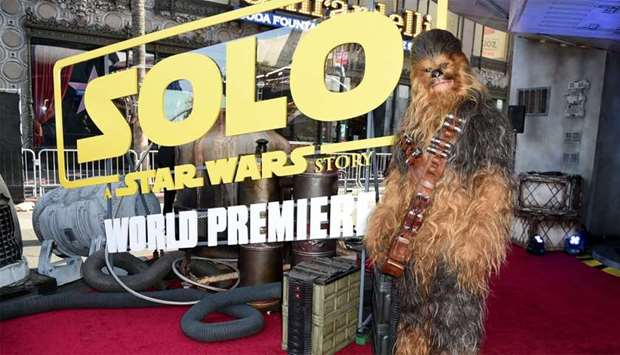"""Chewbacca attends the premiere of Disney Pictures and Lucasfilm's """"Solo: A Star Wars Story"""" at the E"""