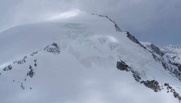 Swiss Police of Canton of Valais shows the Pigne d'Arolla area, where skiers lost their lives