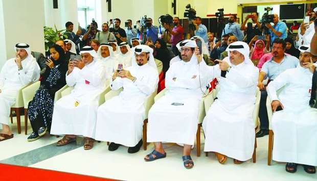 Senior Ooredoo executives among others during the announcement on the live 5G network
