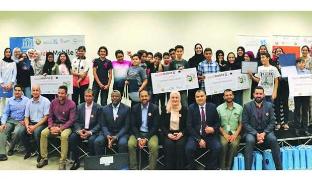 Participants of the YouthMobile Qatar competition.