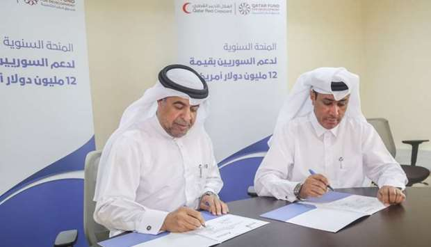 The agreement was signed by Ali Abdullah al-Dabbagh, executive director of Corporate Strategy at QFF