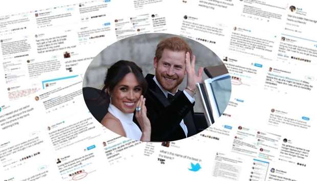 Over six million people tweeted on Prince Harry's marriage to Meghan Markle