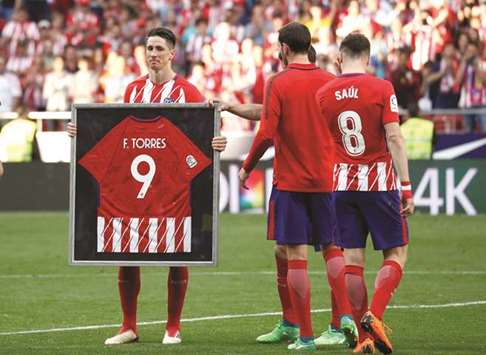 Torres bids Atletico farewell with two goals