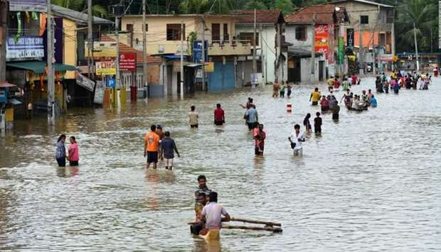 Heavy monsoon rains in Sri Lanka