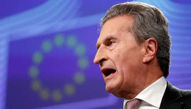EU Budget Commissioner Guenther Oettinger