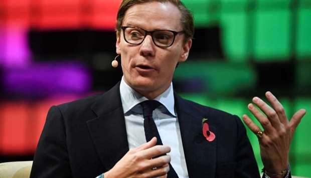 Cambridge Analytica's chief executive officer Alexander Nix gives an interview during the 2017 Web S
