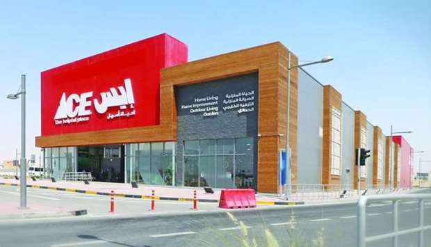 An exterior view of Qatar's first Ace store.