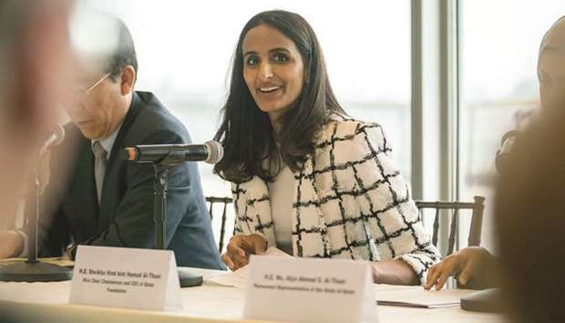 Sheikha Hind outlines QF message at UN conference