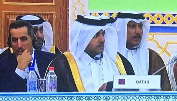 Dr Mutlaq bin Majed al-Qahtani attending the concluding session of the high-level International Conf