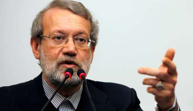Iran's parliament speaker Ali Larijani holds a news conference in Istanbul. January 22, 2015 file pi