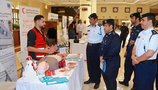 Officials of the General Directorate of Traffic visiting the exhibition