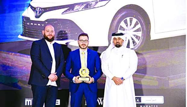 'Best Hybrid Sedan' in Qatar award for Toyota Camry