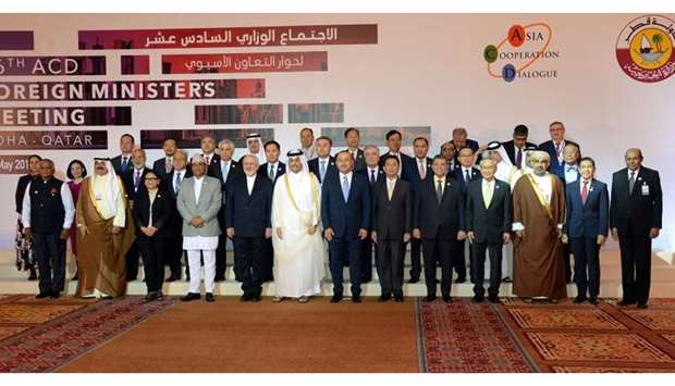 Foreign Minister with participants of the Ministerial Meeting of Asia Co-operation Dialogue