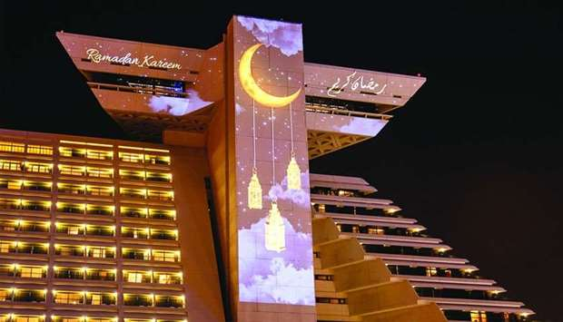An exterior view of Sheraton Grand Doha Resort & Convention Hotel.