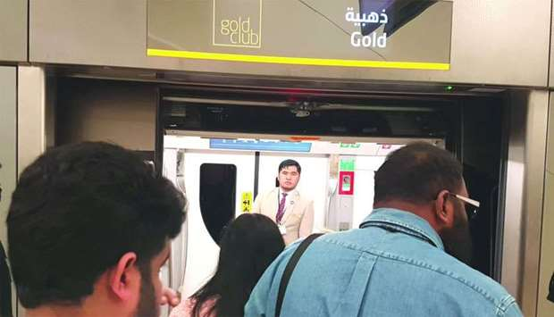 Doha Metro stations have dedicated entrance/exit doors for Goldclub travel card holders. PICTURE: Jo