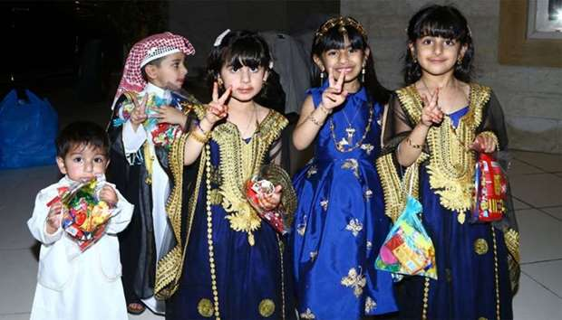 Children turned out in their festive best as they celebrated Garangao around the country