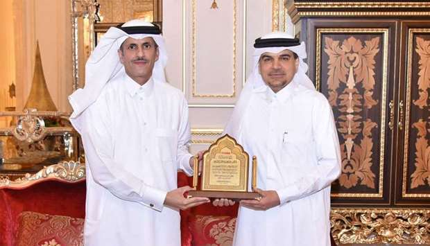 QIIB honoured its chief executive officer Abdulbasit Ahmad al-Shaibei at a ceremony attended by dign
