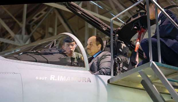 Defence minister visits Nyutabaru Air Base in Japan