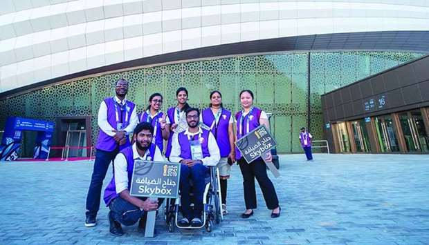 Volunteers from Qatar and the region contributed to the successful running of various operations at