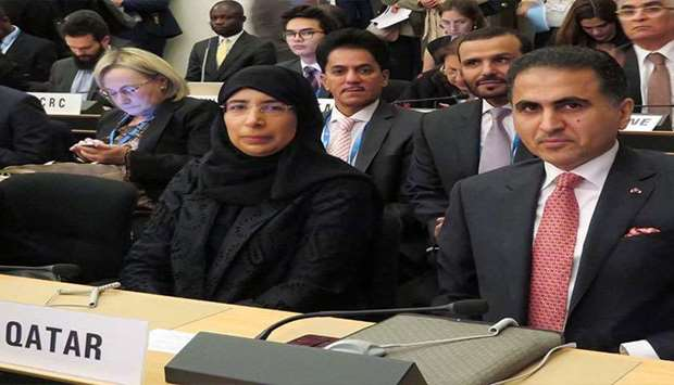 Minister of Public Health Dr. Hanan Mohammed Al-Kuwari led Qatar's delegation to the meetings held f
