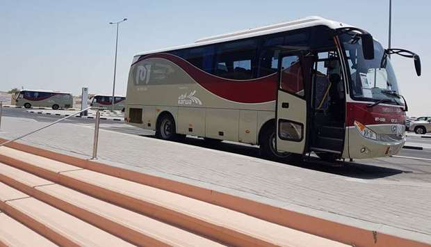 Feeder buses at Al Wakra Metro station take passengers to a number of destinations. PICTURES: Joey A