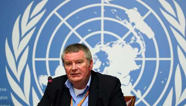 Mike Ryan, Executive Director of the World Health Organisation (WHO) attends a news conference on th