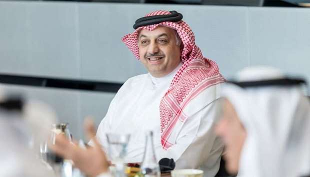 HE Mohammed al-Attiyah at Qatar Research, Development and Innovation Council meeting.