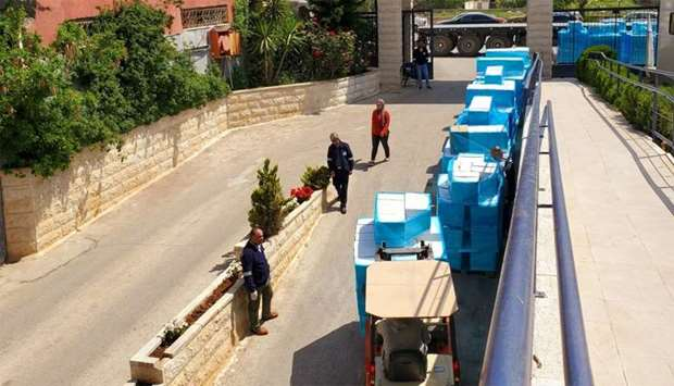 Food baskets are being distributed to a total of 3,780 Covid-19 affected families at West Bank and A