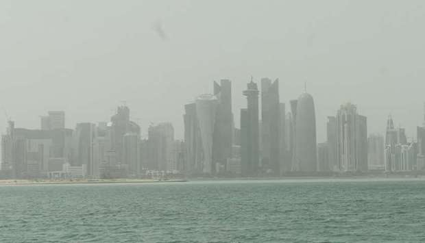 Dusty conditions in Doha on Monday. PICTURE: Shaji Kayamkulam