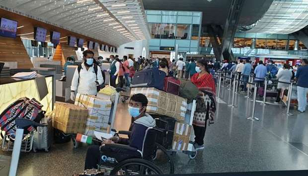 Snapshots from Hamad International Airport on Tuesday, as 181 passengers left Doha for Thiruvanantha