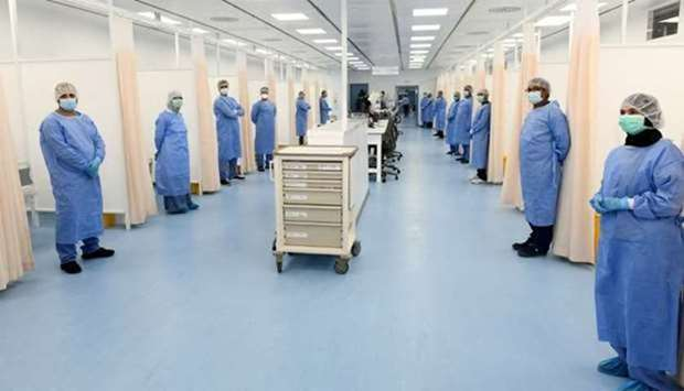 An interior view of the newly opened general field hospital in the Industrial Area. PICTURE: Shemeer