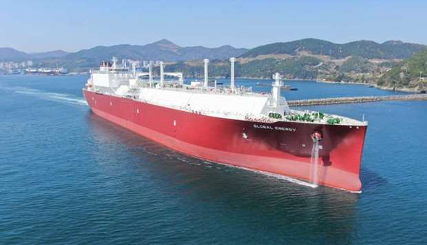 """Global Energy"" is the first of four LNG carrier new-builds to be delivered to Global Shipping, a jo"