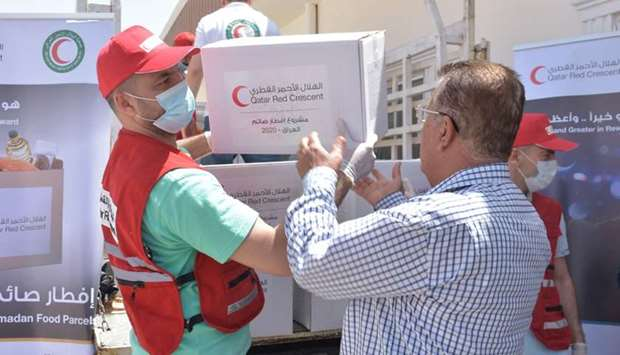 QRCS delivers food aid to 76,000 beneficiaries in five countries