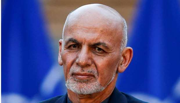 Afghanistan's President Ashraf Ghani, looks on during a joint news conference with US Defense Secret