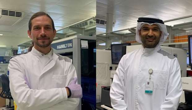 Dr Stephan Lorenz and Dr Khalid Fakhro