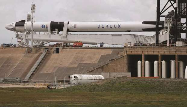 SpaceX readies for blast-off with Nasa astronauts aboard