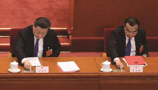 Xi Jinping and Li Keqiang