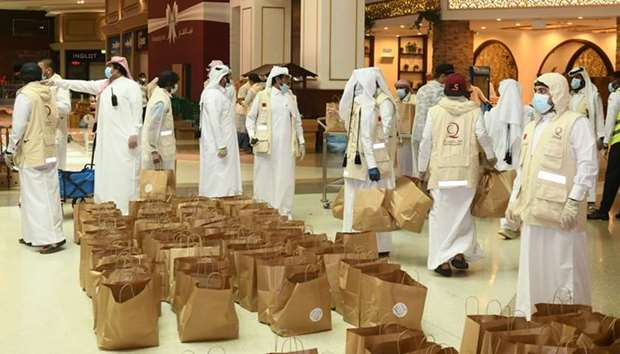 QC joins community initiative for Iftar meal distribution at Hyatt Plaza Mall