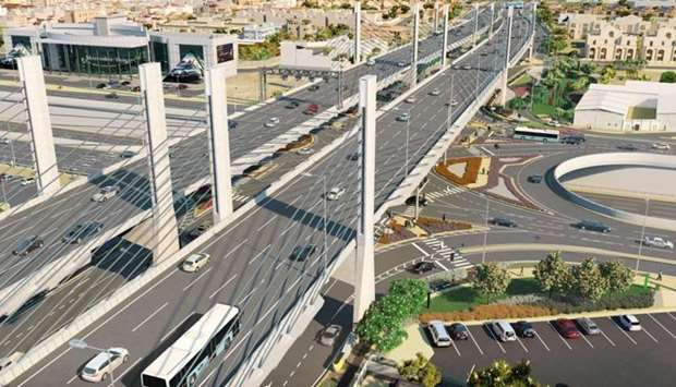 The bridge on the prestigious Sabah Al Ahmad Corridor