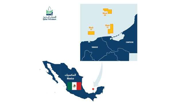 The three offshore blocks are situated in the Campeche basin and within 30km to 90km of the giant Ca
