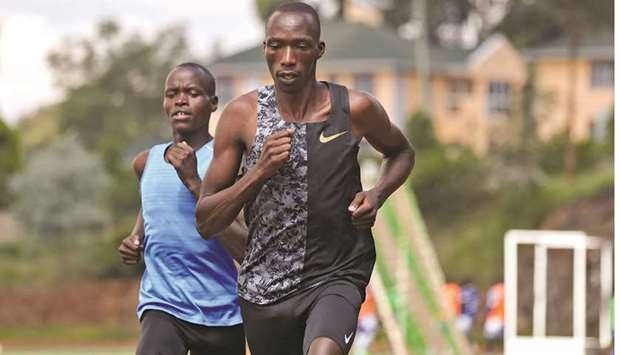 Timothy Cheruiyot, winner of the 1500 metres gold medal at the 2019 World Athletics Championships in